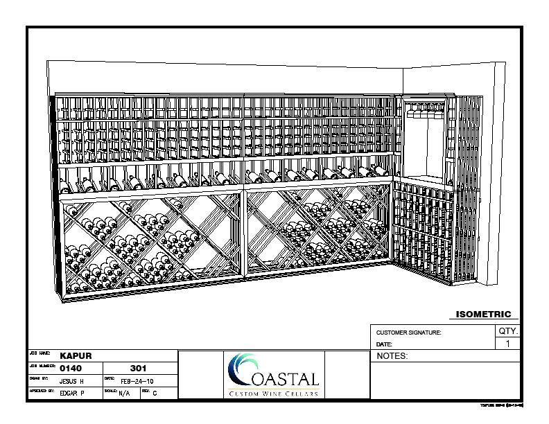Kapur's Custom Wine Cellar Design by Coastal Custom Wine Cellars
