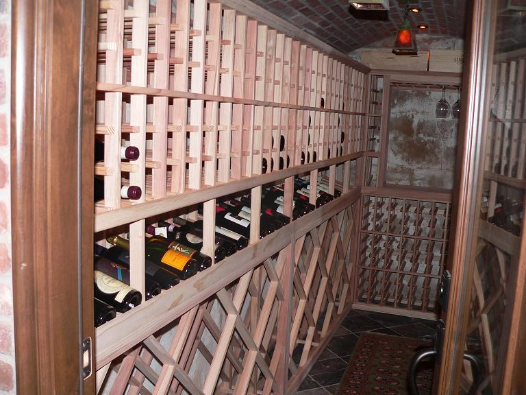 Kapur's Completed Custom Wine Cellar