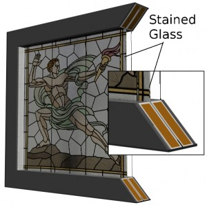 Insulated Stained Glass Window