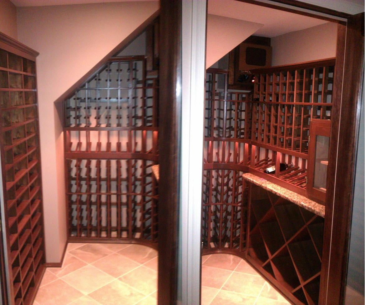 Ahmad Custom Wine Cellar Custom Wine Cellars   Making the Most Out Of Limited Spaces