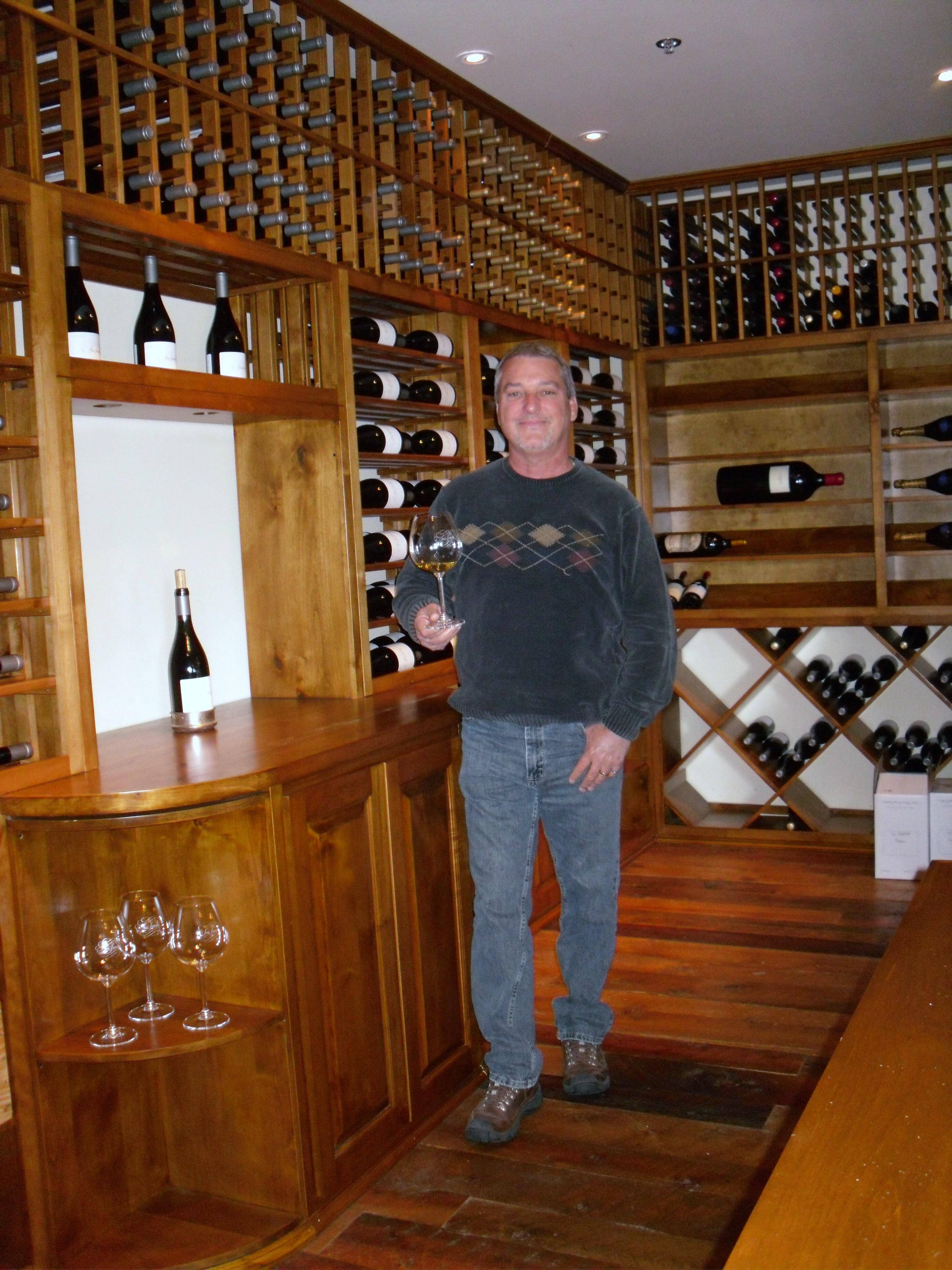 Finished Wine Cellar in Lompoc California - April 2011